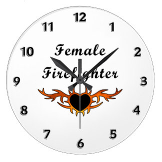 Personalized Firefighter Teamwork Clocks