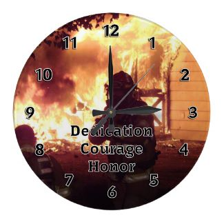 Personalized Firefighter Teamwork Clocks