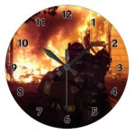 Firefighter Teamwork Clock