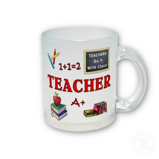 Teachers Mug and Matching Gifts Because Teacher's Do It With Class