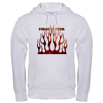 Firefighter Tribal Flames Hoodie