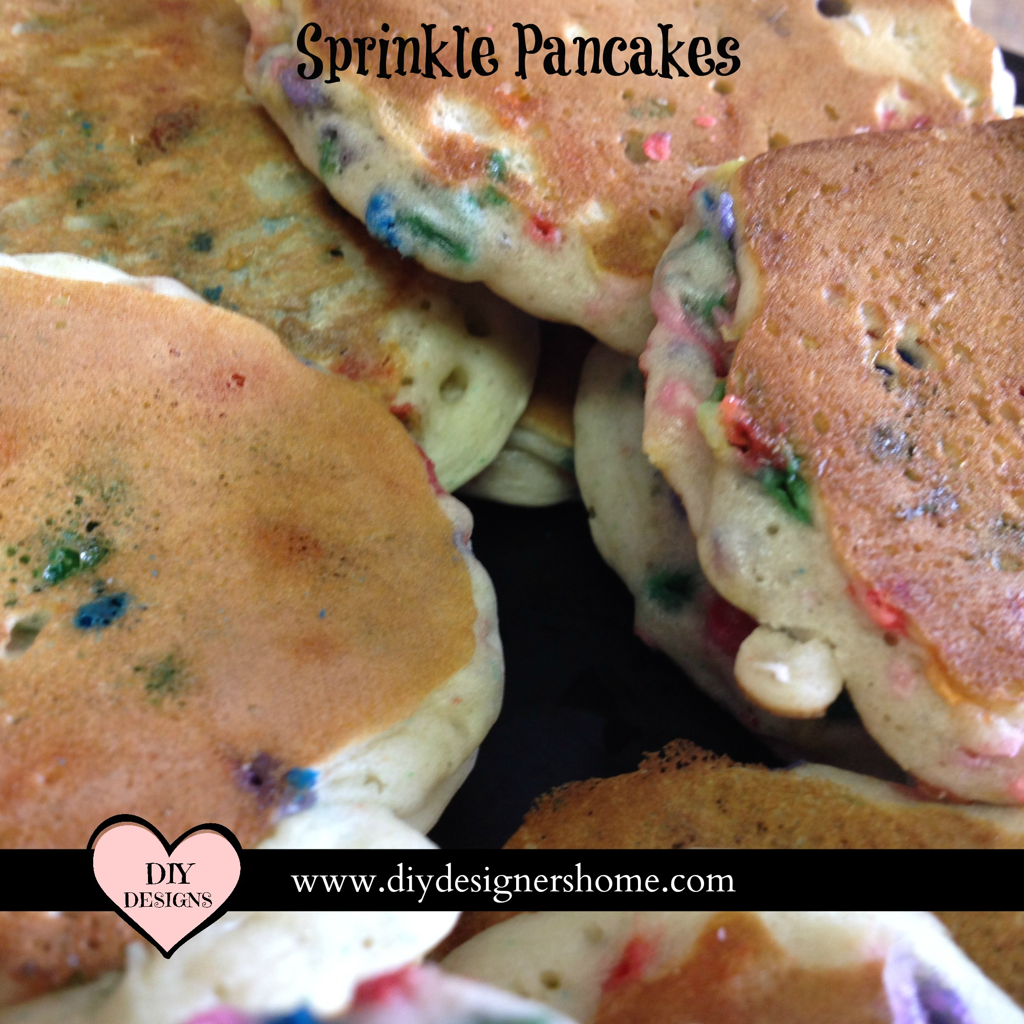 Sprinkle Pancakes Easy Fun Recipe